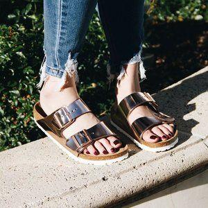 Birkenstock Arizona Women Sandals Flats Copper 37